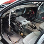 The whole dash assembly removed to access the HVAC housing